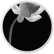 One Lotus Bud Round Beach Towel