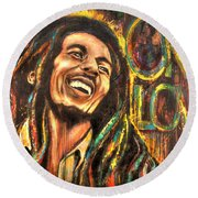 Bob Marley - One Love Round Beach Towel
