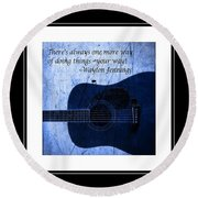 One More Way - Waylon Jennings Round Beach Towel