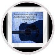 One More Way - Waylon Jennings Round Beach Towel by Barbara Griffin