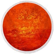 One Night In Old Shanghai By Rjfxx.-original Minimalist Abstract Art Painting Round Beach Towel