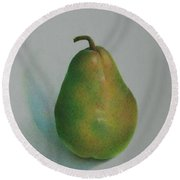 One Of A Pear Round Beach Towel by Pamela Clements