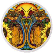One Splendid Day Round Beach Towel