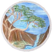 One Tree Round Beach Towel