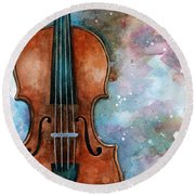 One Voice In The Cosmic Fugue Round Beach Towel