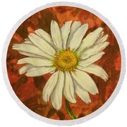 One Yorktown Daisy Round Beach Towel
