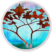 Oneness Round Beach Towel