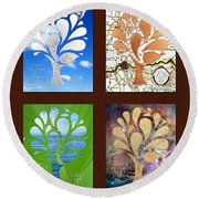 Only As Much As I Dream Series 2x2 Round Beach Towel
