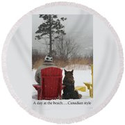 Only In Canada Round Beach Towel