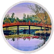 Round Beach Towel featuring the photograph Only In Dreams by Wallaroo Images