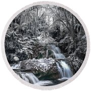 Onomea Falls In Infrared 2 Round Beach Towel