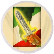 Round Beach Towel featuring the photograph Onore Italia by Peter Gumaer Ogden