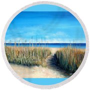 Pathway To Peace Round Beach Towel