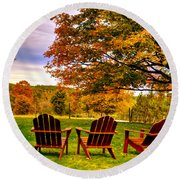 Open Seating Round Beach Towel