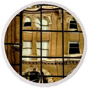 Round Beach Towel featuring the photograph Open Windows by Christiane Hellner-OBrien
