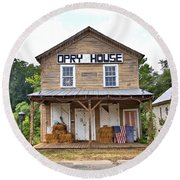 Round Beach Towel featuring the photograph Opry House - Square by Gordon Elwell