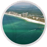 Looking N W Across Perdio Pass To Gulf Shores Round Beach Towel