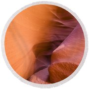 Orange Canyon Round Beach Towel