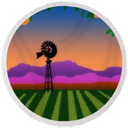 Orange County Round Beach Towel