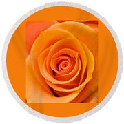 Orange Delight Round Beach Towel