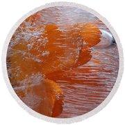 Orange Flower Round Beach Towel by Randi Grace Nilsberg
