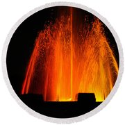 Round Beach Towel featuring the photograph Orange Lava by Clayton Bruster