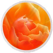 Orange Sherbet Round Beach Towel by Deb Halloran