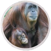 Orangutan Round Beach Towel by DejaVu Designs