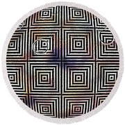 Orb Round Beach Towel
