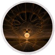 Round Beach Towel featuring the digital art Orb by GJ Blackman
