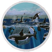 Orca Play Re009 Round Beach Towel