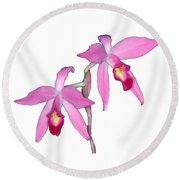 Orchid 1-1 Round Beach Towel