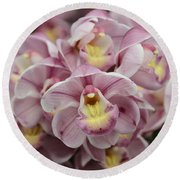 Orchid Bouquet Round Beach Towel