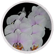 Orchid Bunch Round Beach Towel