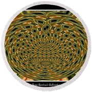 Orchid Polar Coordinate Round Beach Towel by Rose Santuci-Sofranko