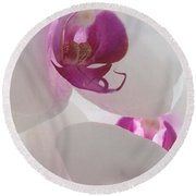 Orchid Trio Round Beach Towel