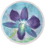 Orchidal Offering Round Beach Towel by Amanda Holmes Tzafrir
