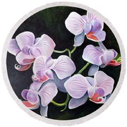 Orchids II Round Beach Towel