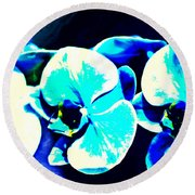 Round Beach Towel featuring the mixed media Orchids Of Ranetta by Michelle Dallocchio