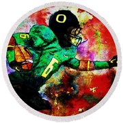 Oregon Football 3 Round Beach Towel