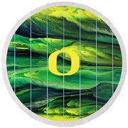 Oregon Football Round Beach Towel