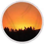 Oregon Sunset Round Beach Towel