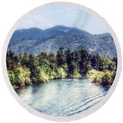 Oregon Views Round Beach Towel