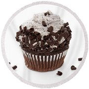 Oreo Cookie Cupcake Round Beach Towel