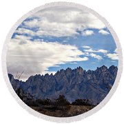 Organ Mountain Landscape Round Beach Towel