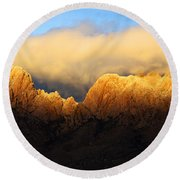 Organ Mountains Symphony Of Light Round Beach Towel by Bob Christopher