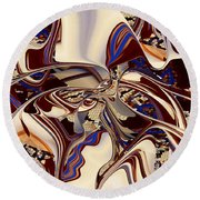 Organic Web - Fine Art Digital Abstract - Rd Round Beach Towel by rd Erickson