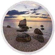 Orient Point Calm Round Beach Towel