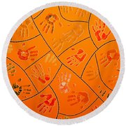 Original Art 3 Round Beach Towel