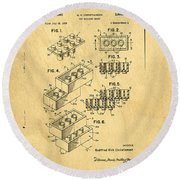 Original Us Patent For Lego Round Beach Towel